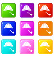 hat and pipe icons 9 set vector image vector image