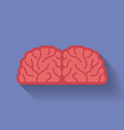 Icon of the brain Flat style vector image vector image