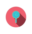 Lollipop icon Lolly pop candy sign vector image vector image