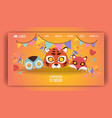 mask pattern kids carnival cartoon animal masks vector image