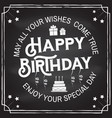 may all your wishes come true happy birthday vector image vector image