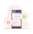 mobile messenger concept vector image