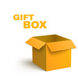 Open Yellow Box Isolated on Dark Background vector image vector image
