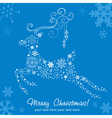 Ornate decorative Christmas deer card vector image vector image