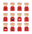 pack of cigarettes creative cartoon style smiles vector image vector image