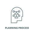 planning process head line icon linear vector image vector image