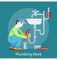 Plumbing Work Concept vector image vector image