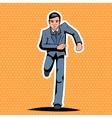 Pop Art Running Hurry Meeting Businessman vector image vector image