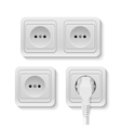 power socket vector image vector image