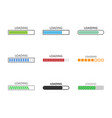 progress loading bar set vector image vector image
