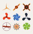 propeller fan wind ventilator equipment air vector image vector image