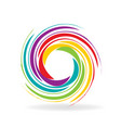 rainbow circle swirl logo icon vector image