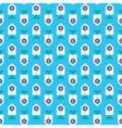 RetroBluePattern vector image vector image