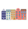 row of color houses vector image vector image