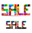 Sale Colorful Title vector image vector image