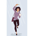 Saving for a rainy day vector image vector image