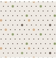 Seamless pattern of dots and flowers vector image vector image