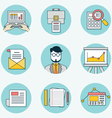 Set of data analytics icons for business - part 2 vector image vector image