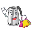 shopping plastic electric kettle isolated on vector image