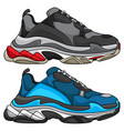 sneakers trendy vector image vector image