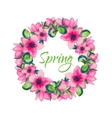 Spring is coming greeting card vector image vector image