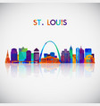 stlouis skyline silhouette vector image vector image