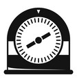swim clock icon simple style vector image