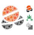tablets mosaic of cannabis vector image vector image