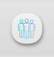 team app icon vector image