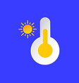 thermometer temperature emblem sunny day weather vector image vector image