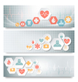Three medical banners with icons vector image vector image