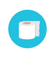 toilet paper isolated on blue background vector image vector image