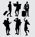 traveler silhouette vector image vector image