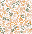 vintage swirls seamless pattern with grunge effect vector image