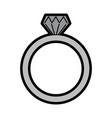 wedding ring icon diamond ring jewelry vector image vector image