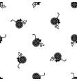 wheelchair pattern seamless black vector image vector image