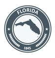 Florida stamp with state map contour vector image