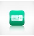 Computer keyboard web icon Application button vector image