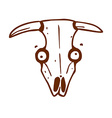Hand Drawn Cow Skull vector image