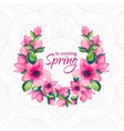 Spring is coming greeting card vector image
