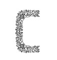 letters floral c vector image