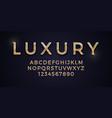 3d elegant luxury golden font on deep blue vector image