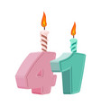 41 years birthday number with festive candle for vector image vector image