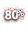 80 sale sign vector image vector image