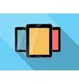 Abstract design realistic tablet flat icon vector image