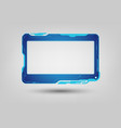 abstract tech sci fi hologram frame template vector image vector image