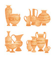 ancient vases bowls and goblets isolated vector image vector image