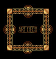 art deco frame border ornate gold decoration vector image vector image