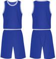 basketball set shirt and shorts vector image vector image