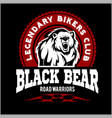 bear bikers club tee print design t-shirt vector image vector image